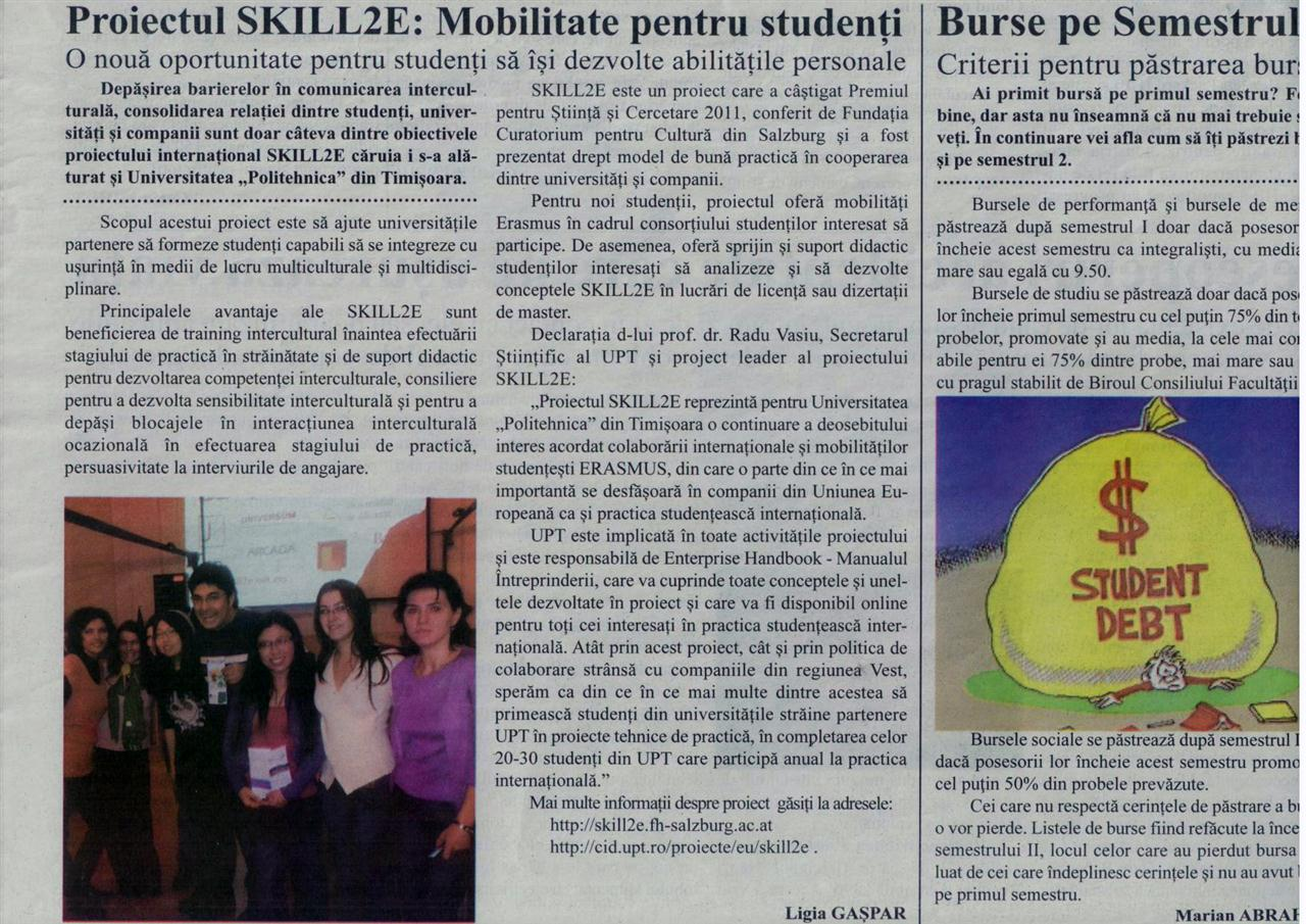 Disseminating information on SKILL2E project