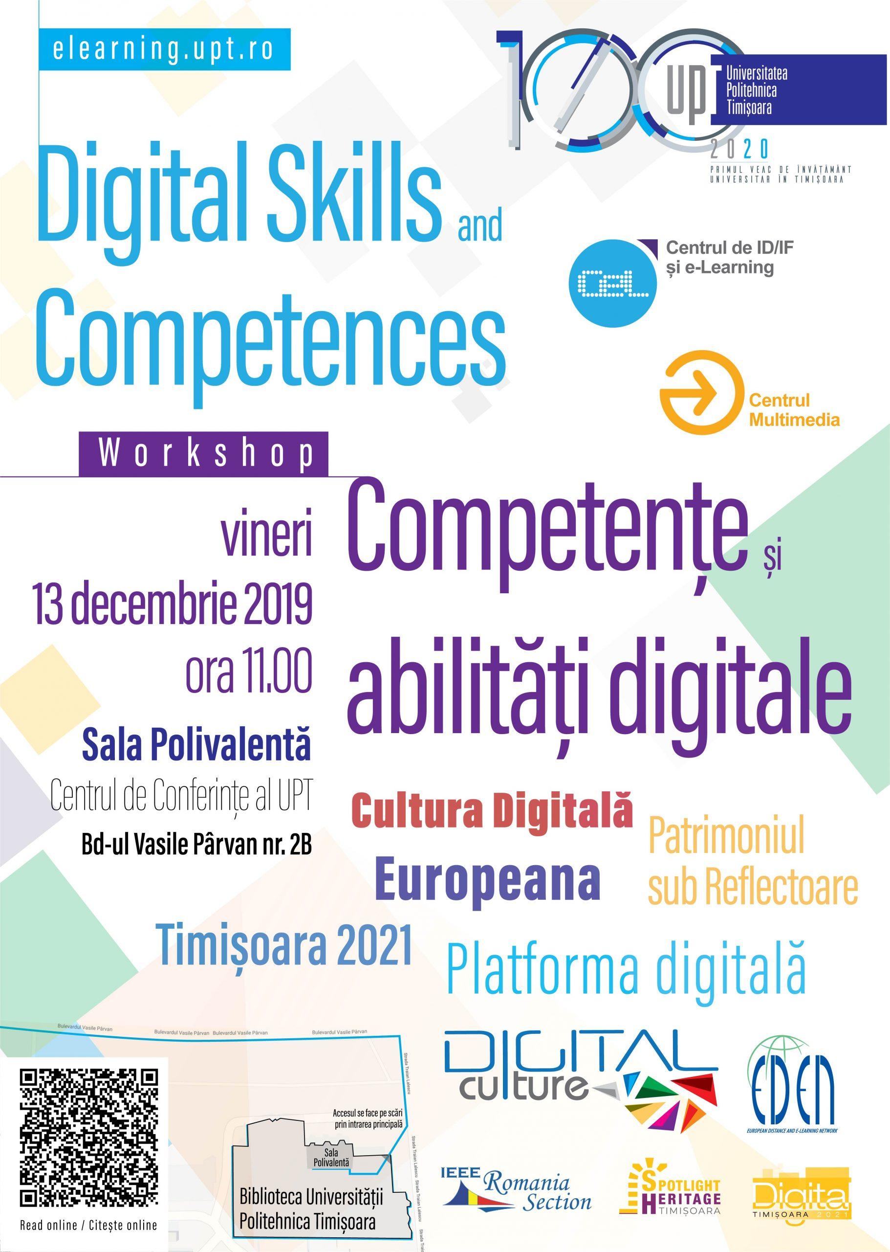 Workshop Competențe și abilități digitale – Digital Culture, Europeana și Timișoara 2021