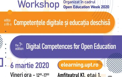 Înscrieri la workshop Competențele Digitale și Educația Deschisă