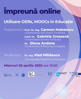 Webinar #impreunaonline – Utilizare OERs, MOOCs în Educație