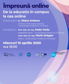 Webinar #impreunaonline: De la educația în campus la cea online