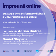 Webinar #impreunaonline –  Strategia de transformare digitală a Universității Babeș-Bolyai