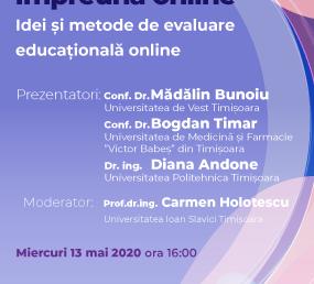 Webinar #impreunaonline –  Idei și metode de evaluare educațională online