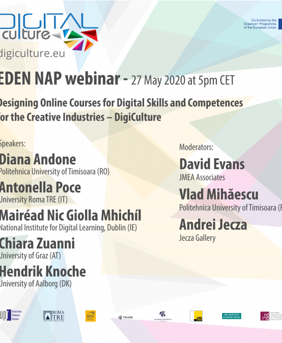 Webinar EDEN NAP: Designing Online Courses for Digital Skills and Competences for the Creative Industries – DigiCulture