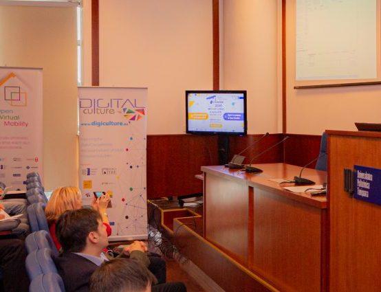 Prezentare despre proiectul Digital Culture în cadrul Open Education Week 2020