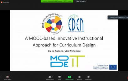 MODE IT project - presented at the annual # EDEN2020 Conference