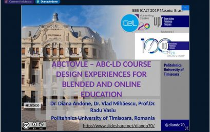 The work of UPT inside the ABC2VLE Project, presented within eLSE 2020 Conference