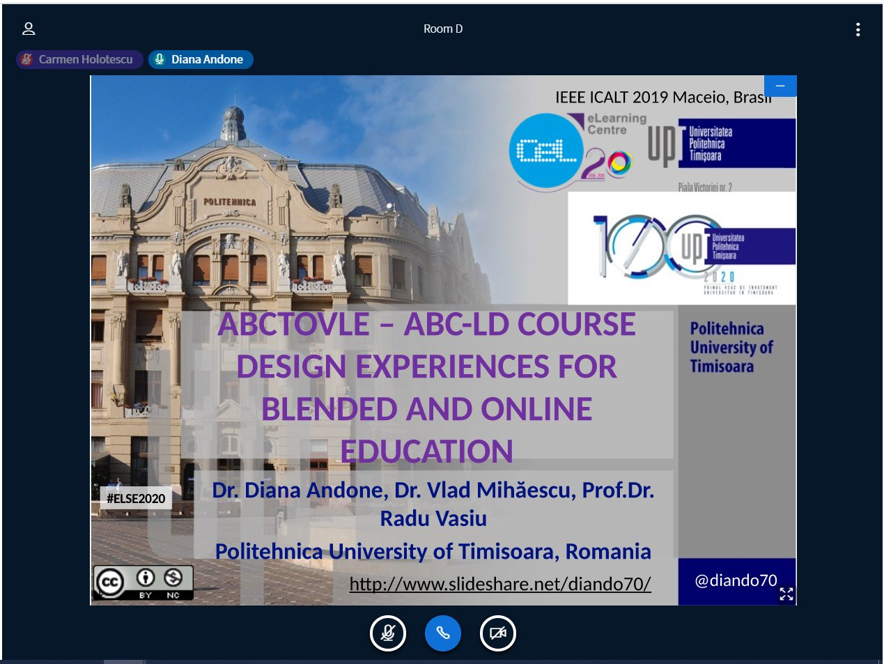 Lucrările UPT din cadrul proiectului ABCtoVLE, prezentate la conferința eLSE 2020