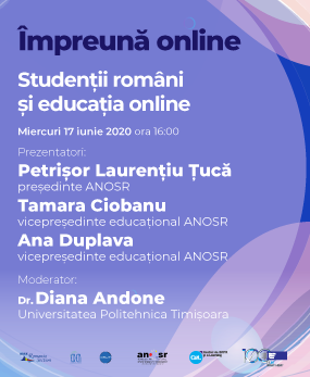 #impreunaonline webinar - Romanian students and online education