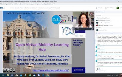 Open VM: Webinar de mobilitate virtuală pentru universități și alianțe universitare europene