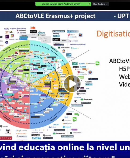 Presentation about the ABC to VLE project at the #impreunaonline Webinar - Practical use of Open Educational Resources. UNESCO recommendations