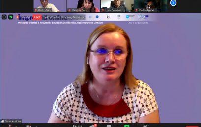 Prezentarea despre proiectul OpenVM în cadrul webinarului #impreunaonline – Utilizarea practică a Resurselor Educaționale Deschise. Recomandările UNESCO