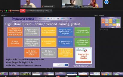 Prezentarea despre proiectul Cultură Digitală în cadrul webinarului #impreunaonline – Utilizarea practică a Resurselor Educaționale Deschise. Recomandările UNESCO