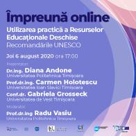 Webinar #impreunaonline – Utilizarea practică a Resurselor Educaționale Deschise. Recomandările UNESCO