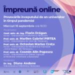 Webinar #impreunaonline – Provocările începutului de an universitar în timpul pandemiei