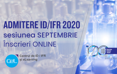 Rezultate ADMITERE ID/IFR – sesiunea SEPTEMBRIE 2020