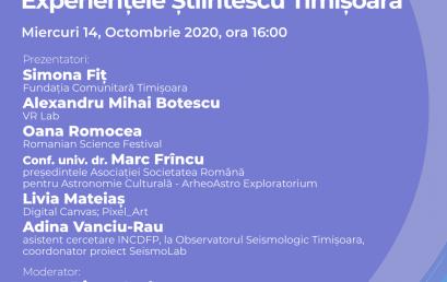 Webinar #impreunaonline: Experiențele Știintescu Timișoara