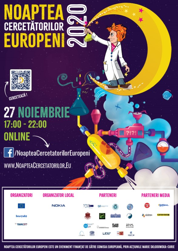 Te așteptăm online la Noaptea Cercetătorilor Europeni 2020