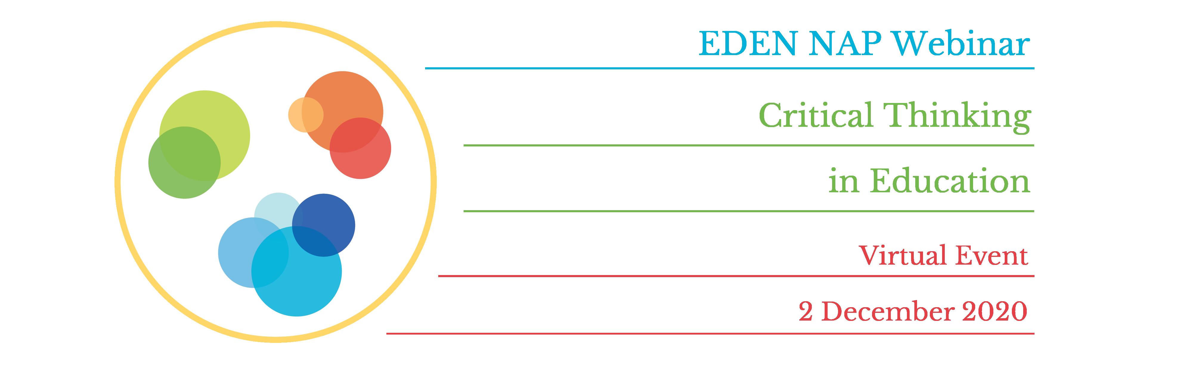 Webinar EDEN NAP: Gândirea critică în educație