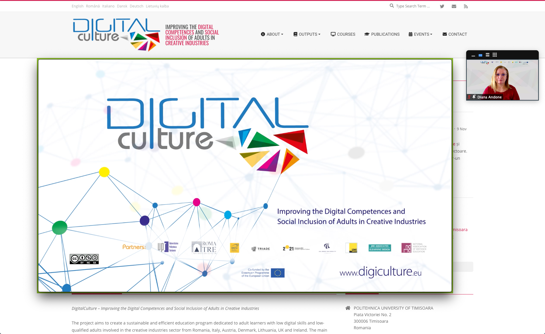 """DigiCulture in the top 10 good practice projects at the Erasmus + conference """"Learn more"""""""