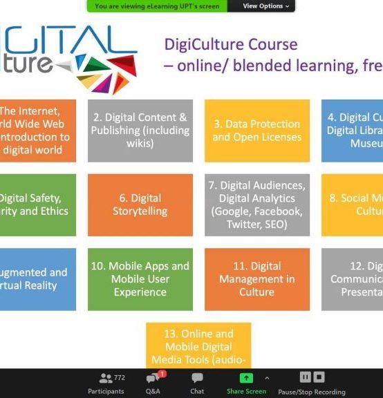 Prezentarea proiectului DigiCulture în sesiunile de instruire pentru studenții UPT