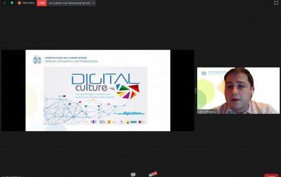 Proiectul DigiCulture la webinar EDEN NAP: Proiectarea cursurilor online: o abordare practică