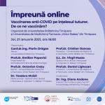 Webinar #impreunaonline: Vaccinarea anti-COVID pe înțelesul tuturor. De ce ne vaccinăm?