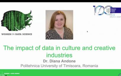 Conferința Femeile în știință din Europa Centrală și de Est : despre Impactul datelor în cultură și industriile creative – Dr. Diana Andone, directorul CeL