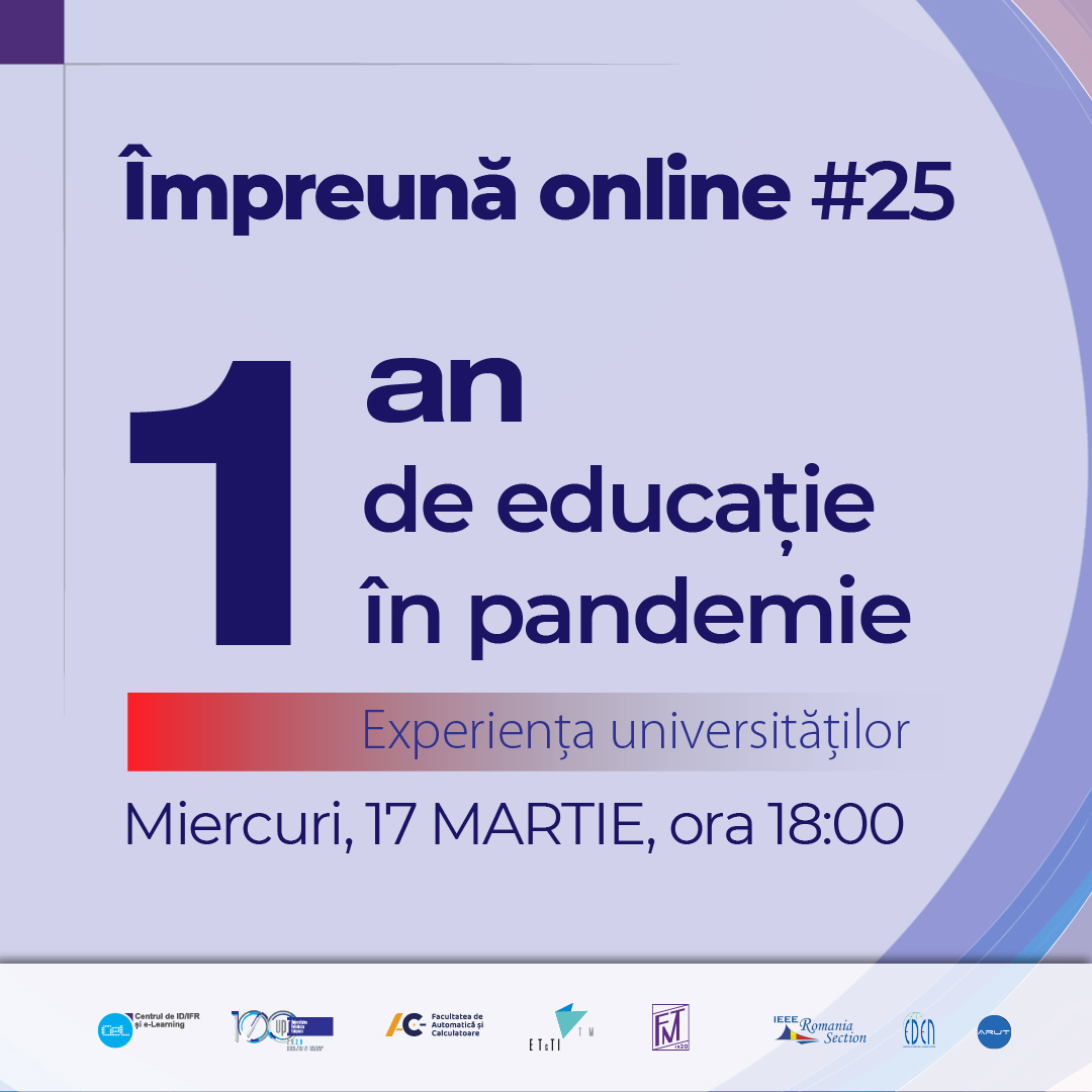 #impreunaonline webinar: A year of pandemic education - the experience of universities