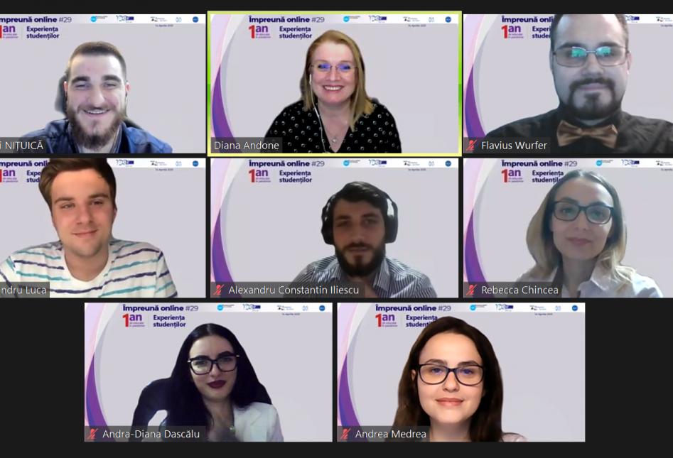 Webinar #impreunaonline: Un an de educație în pandemie – experiența studenților